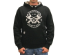 Hoody Racing Planet schwarz/ grau - S