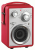 Scansonic PA 680 tragbares Radio, FM/AM, rot
