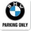 "Nostalgic-Art Metall Untersetzer ""BMW - Parking Only"""